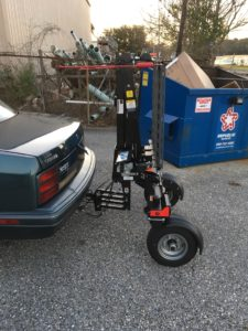 Folded Exterior Scooter Wheelchair Lift Mobile Al