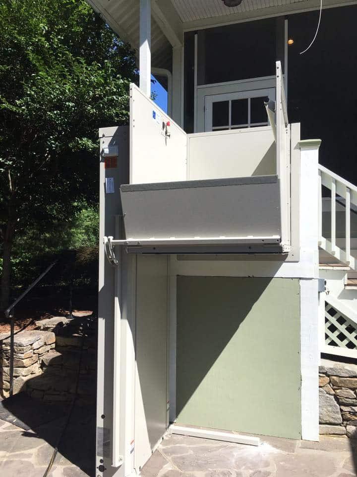 Wheelchair Vertical Platform Lift Installation Asheville, NC