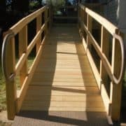 Modular design wooden wheelchair ramp