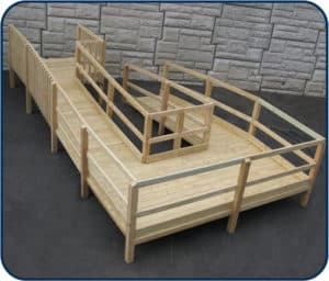 modular wooden wheelchair ramp
