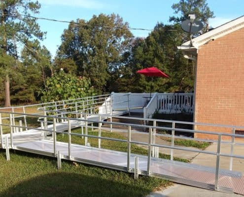 Aluminum Wheelchair Ramps Installation