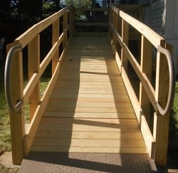 Wooden Wheelchair Ramps in Asheville, NC