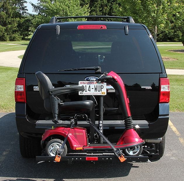 Indianapolis fold down scooter and wheelchair lift for vehicles