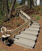 Bruno Outdoor Curved Stairlifts