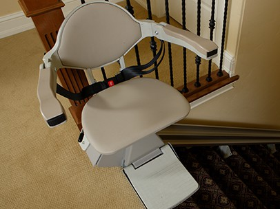 Elan Straight Indoor Stairlift by Bruno