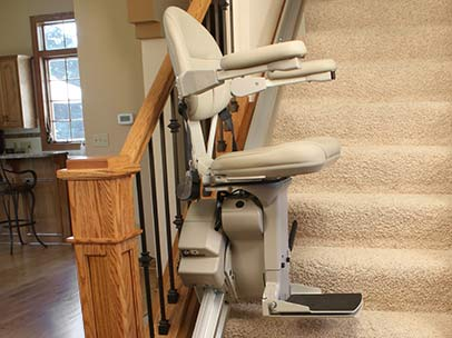 Elite Straigtht Stairlift Chair by Bruno