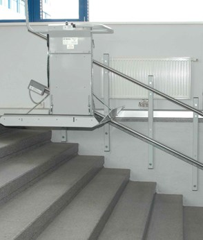 Savaria Delta Inclined Platform Lift Straight Staircases