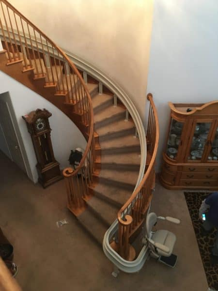 Indianapolis Curved Stairlift Installations