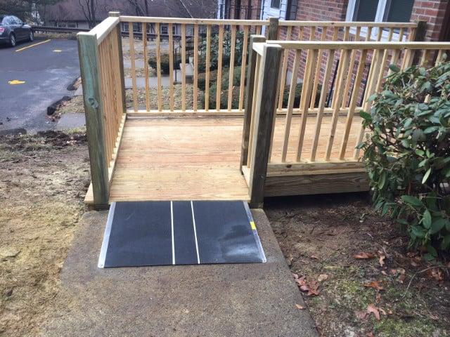 wooden wheelchair ramp Pomfret