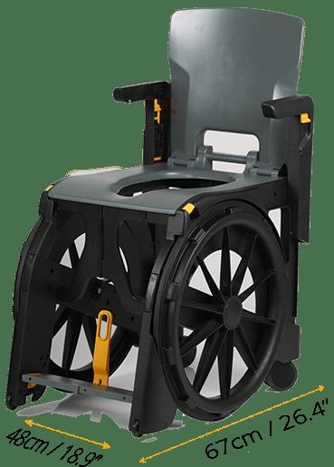 Wheelable Transportable Shower Chair