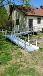 Aluminum Wheelchair Ramp Installation Charlotte NC