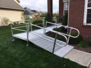 Modular Wheelchair Ramp Installation