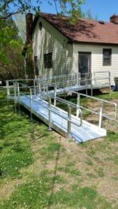Aluminum Wheelchair Ramp Installation